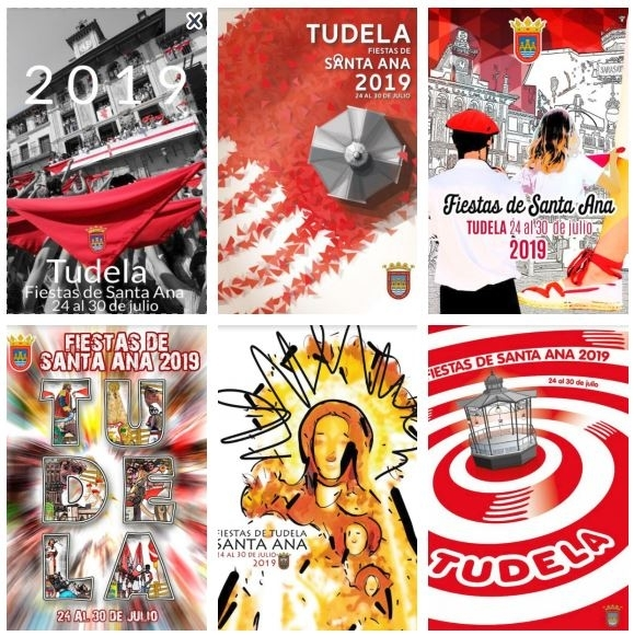 Seis carteles para anunciar las fiestas de Santa Ana