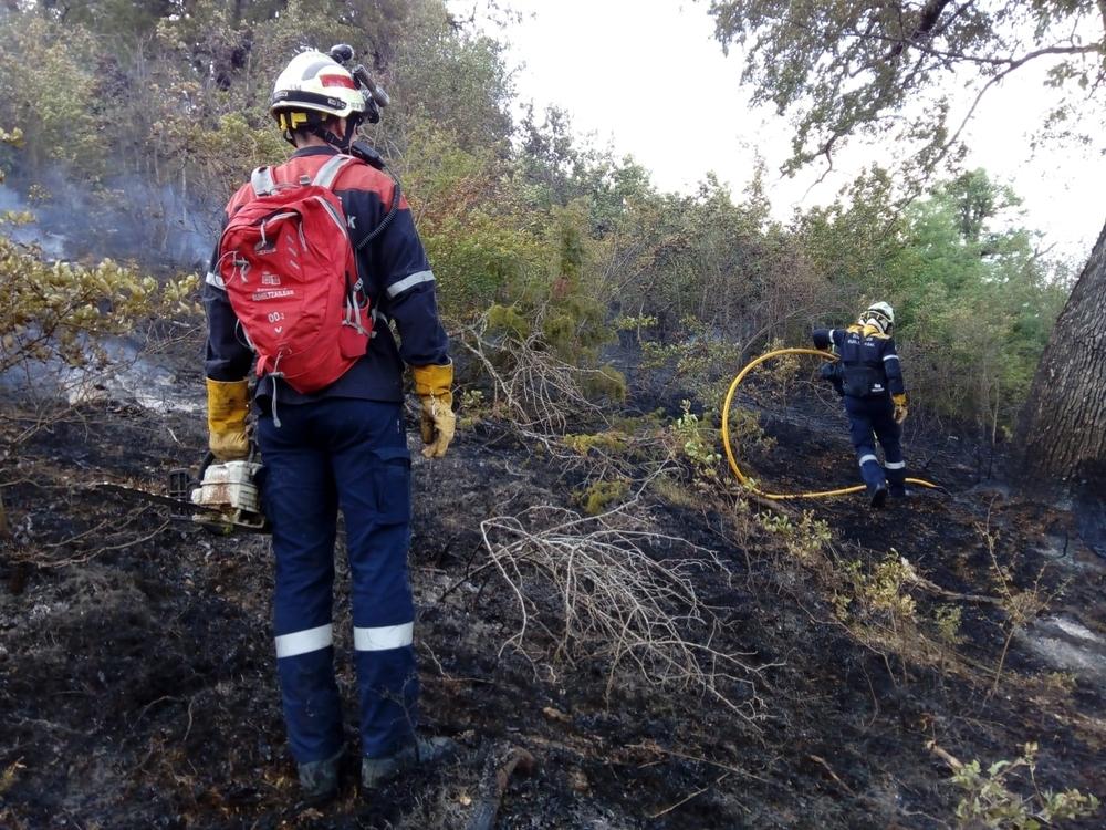 Controlado el incendio de arbolado declarado en Oricáin