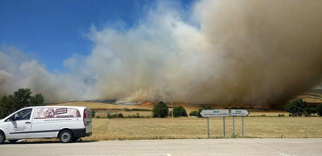 El fuego arrasó 89 hectáreas en Huérmeces