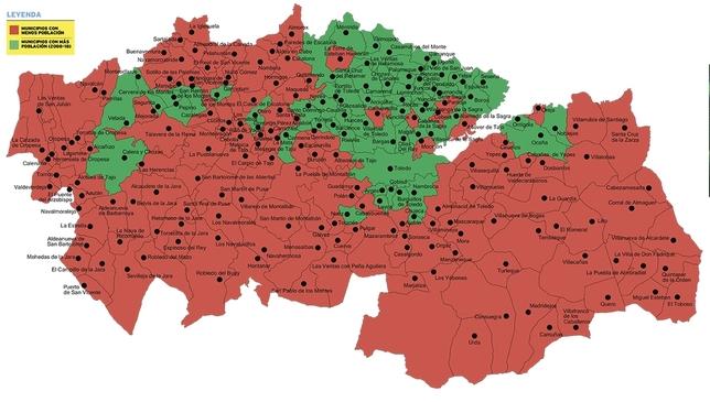 Mapa Politico De Toledo.El 71 De Los Municipios De La Provincia Pierde Poblacion Noticias La Tribuna De Toledo