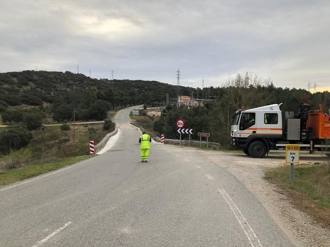 La Diputación reabre al tráfico el puente de Bernardos