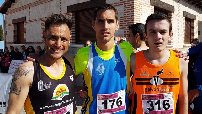 Un canario y una palentina ganan en Velascálvaro