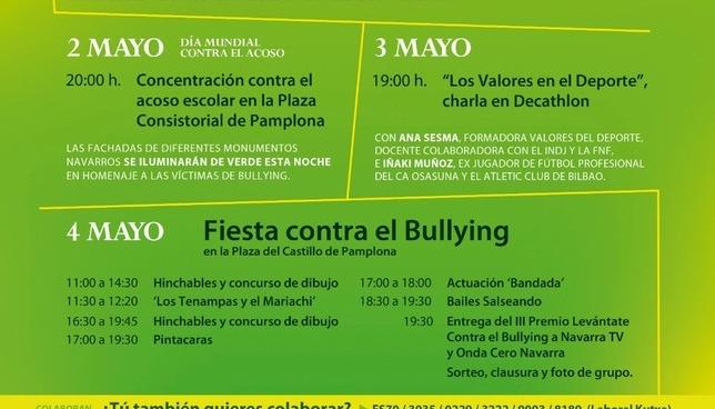 La agenda navarra llena de actos de apoyo contra el Bullying