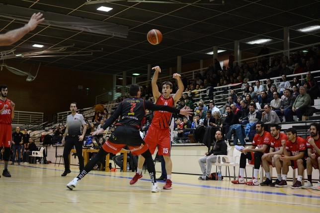 Iñaki Narros resultó decisivo en el último cuarto. Iñaki Martínez