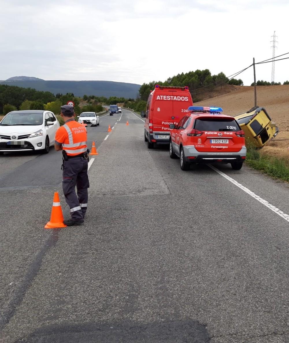 Fallece una vecina de Huarte en un accidente en Olza
