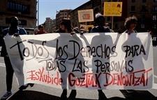 Manifestación contra el racismo en Pamplona