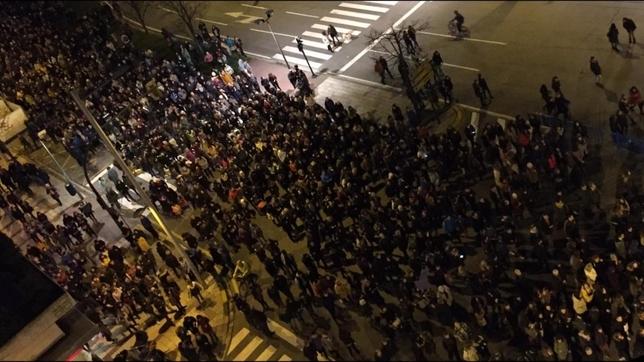 Miles de personas han acudido a la manifestación que ha comenzado en la plaza de Europa de la capital navarra Gonzalo Velasco