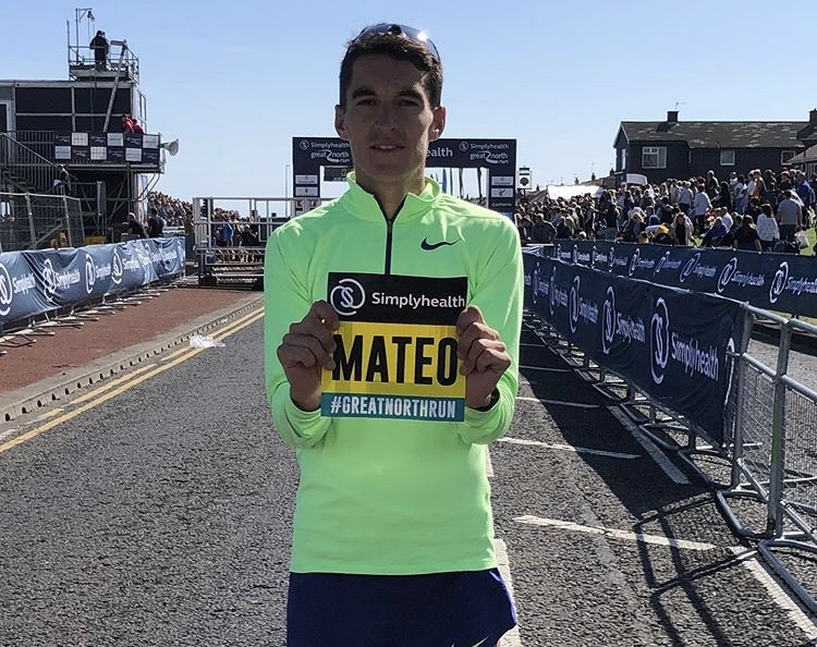 Dani Mateo, séptimo en la Great North Run de Newcastle