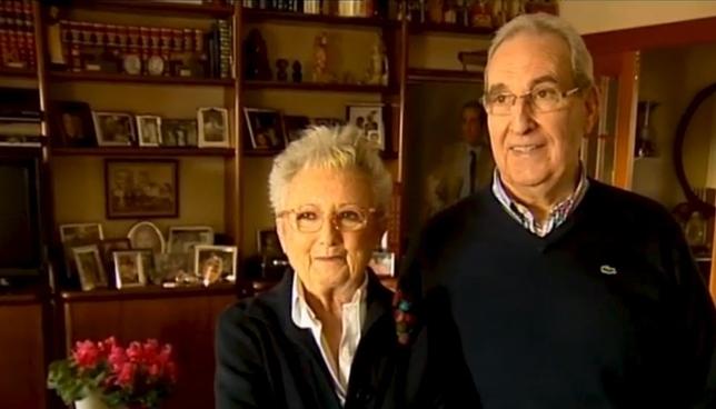 Jesús María Astrain, junto a su mujer Mariví Jabat Churio Archivo NATV