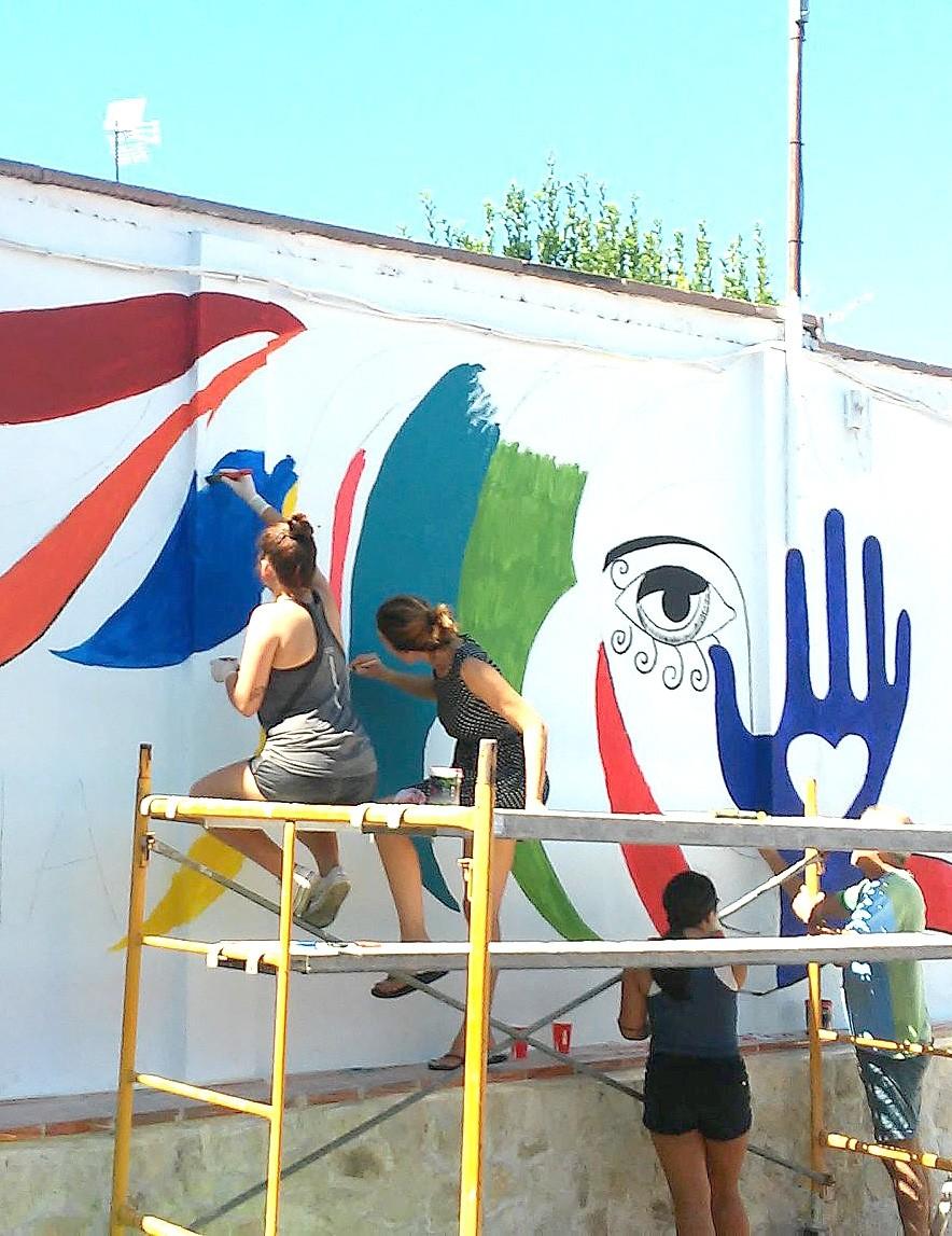 Los murales están de moda en los pueblos