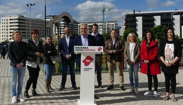 Los candidatos de Navarra Suma al Ayuntamiento de Pamplona Navarra Suma