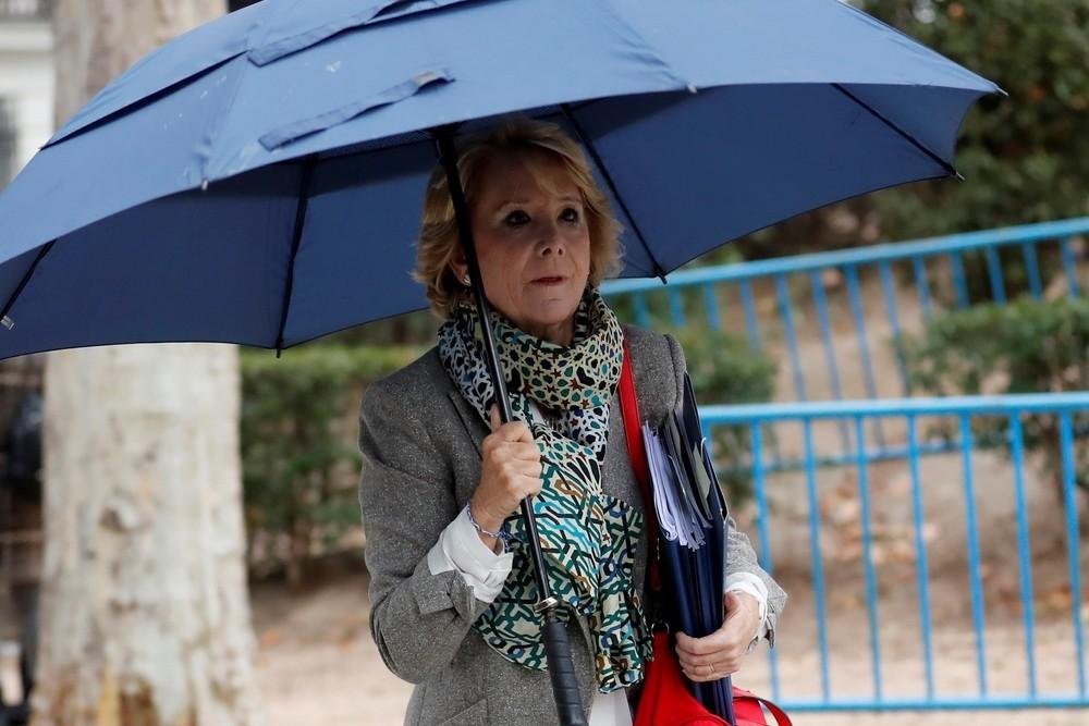 Aguirre se desmarca de la financiación ilegal del PP