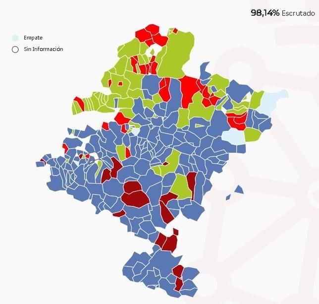 Este es el 'color' de Navarra: así se votó por municipios