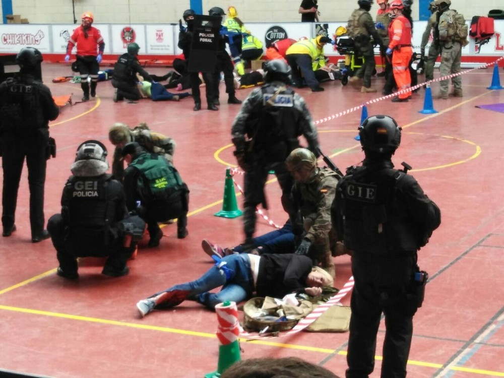 Policía Foral participa en un simulacro antiterrorista