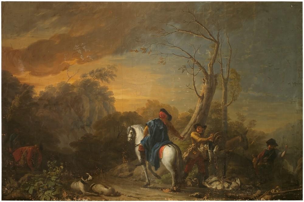 Alto en la cacería, de José del Castillo, está en el Palacio de Avellaneda de Peñaranda de Duero.