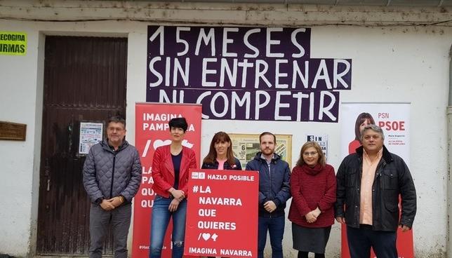 Esporrín apuesta por rehabilitar la presa de Santa Engracia PSN-PSOE