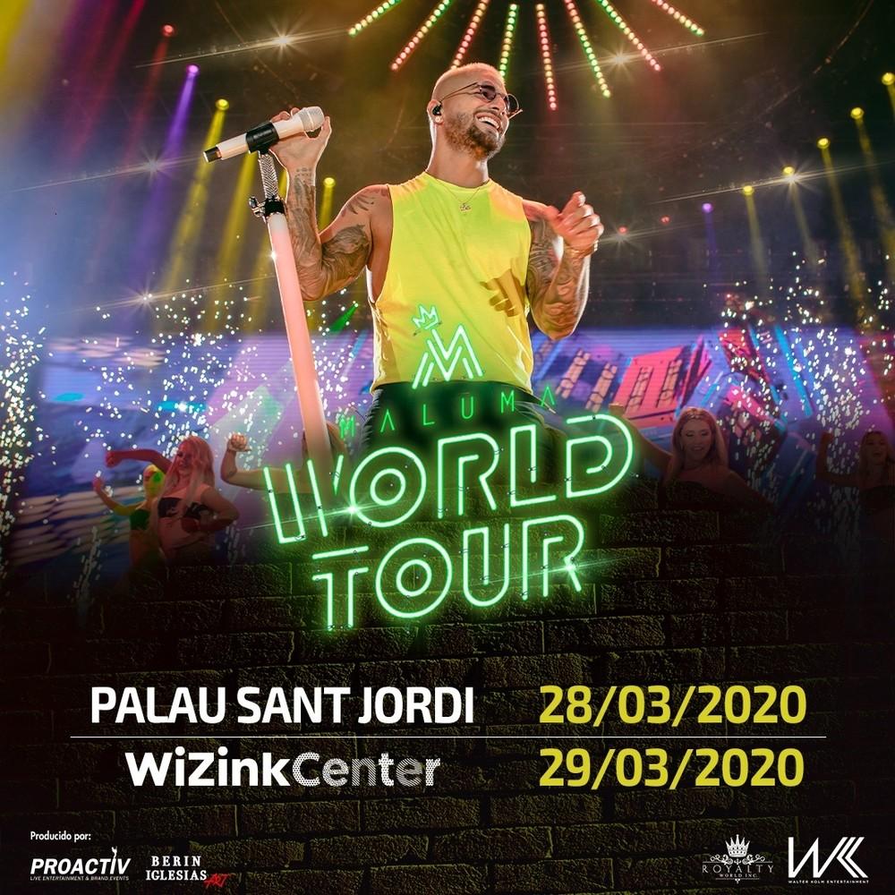Maluma anuncia dos grandes conciertos en España en 2020