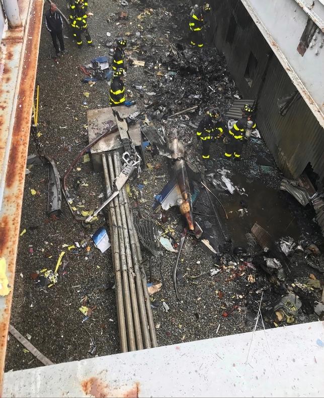 Un helicóptero se estrella en una azotea de Nueva York FDNY HANDOUT