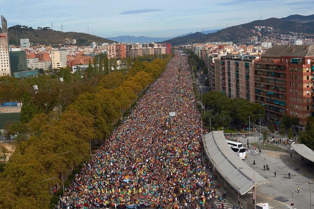 Las Marchas colapsan el centro de Barcelona