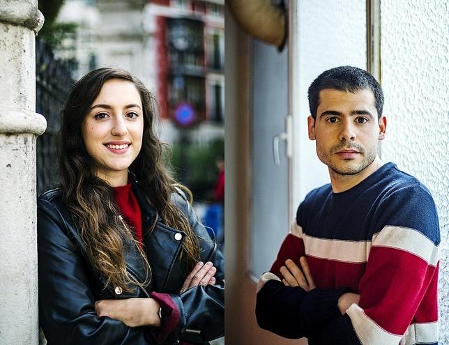 Inés Olandía y Alberto García son dos jóvenes que sufren la alta temporalidad laboral. J. Tajes