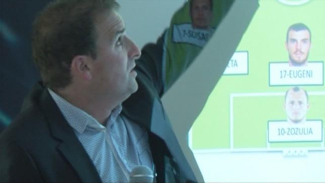 Arrasate estuvo acompañado por el analista Rubén Berrogui NATV