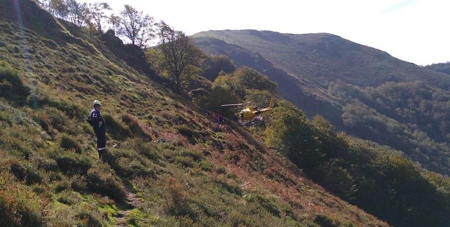 Rescatan a una excursionista herida en Goizueta