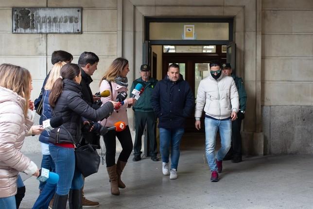 Los miembros de La Manada comparecen en el juzgado
