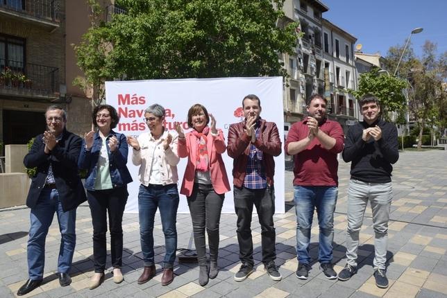 Barkos defiende en Tudela su gestión del Gobierno de Navarra
