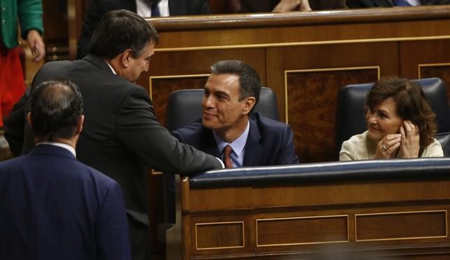 PNV desvincula sus negociaciones con Sánchez de Navarra