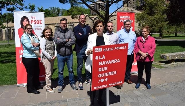 Los candidatos socialistas de Pamplona, en la Ciudadela