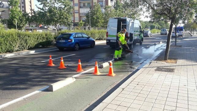 Dos accidentes atascan casi una hora la avenida de Salamanca