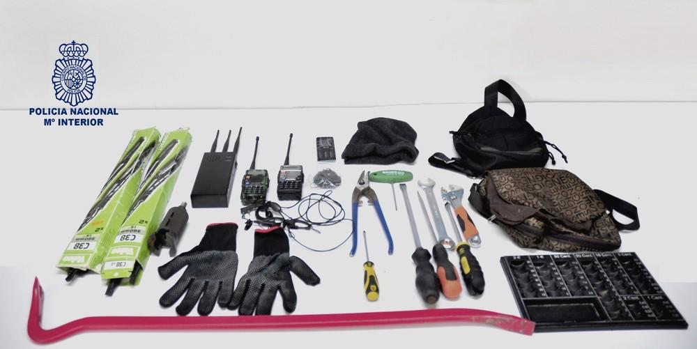 Cuatro detenidos por robos con fuerza en estancos y tiendas