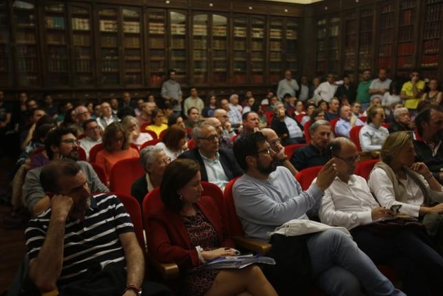 Debate electoral de los candidatos a la Alcaldía de Valladolid en la Facultad de Derecho J.T.