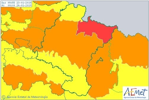 Riesgo extremo en Pirineos y aviso naranja en Pamplona