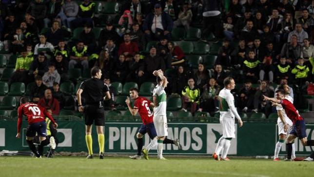 David García celebra el gol del empate. El navarro lleva dos en la presente campaña. LaLiga
