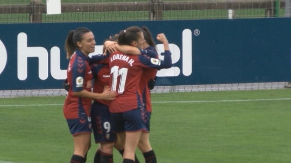 La delantera de Osasuna marcó un doblete en la primera parte
