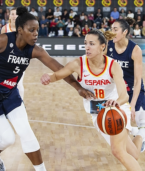 La superioridad física de Francia doblega a España (58-65)