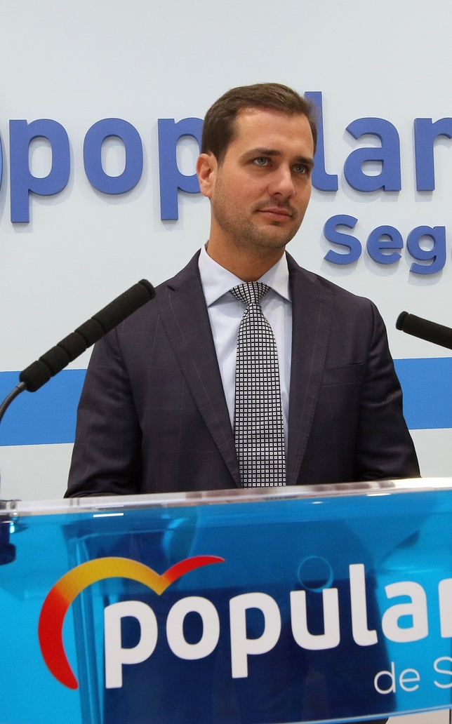 Pablo Pérez, candidato del PP a la Alcaldía de Segovia.