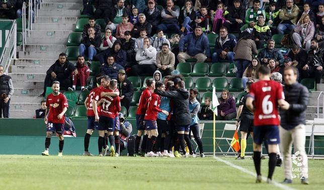 Los jugadores celebran el tanto de la remontada de Torres LaLiga