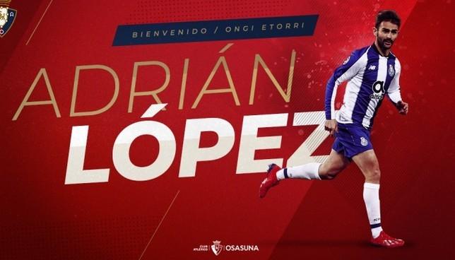 Adrián López, nuevo jugador de Osasuna procedente del Oporto