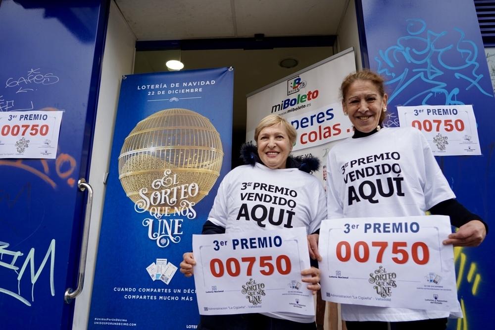 El tercer premio, el 750, deja medio millón en Valladolid