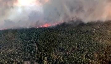 El incendio de Barchín del Hoyo sigue sin control