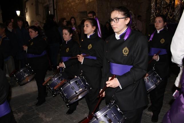 La banda de cornetas del Nazareno, que tocará el Viernes Santo en Ocaña.