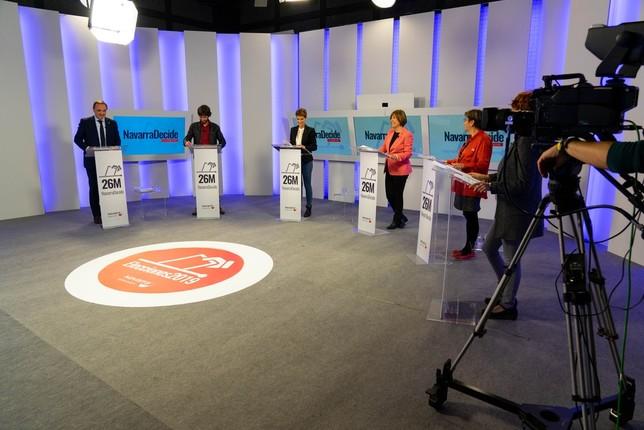 Los candidatos marcan posturas a cuatro días de las forales