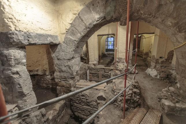 Los trabajos arqueológicos en Tornerías destaparon restos de edificaciones romanas.