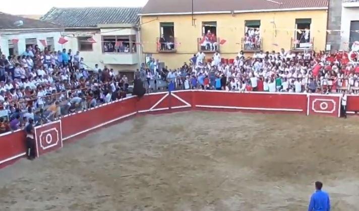 El toro salta la primera vez
