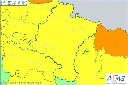 Navarra entera, en aviso amarillo por fuertes vientos