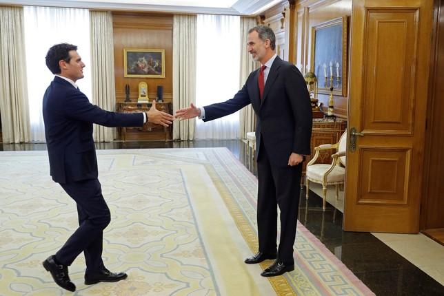 Rivera urge a Sánchez que forme Gobierno cuanto antes Juan carlos Hidalgo