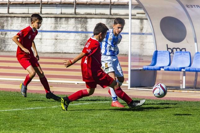 Imagen del partido de la primera fase entre el Leganés y la Escuela de Ciudad Real.