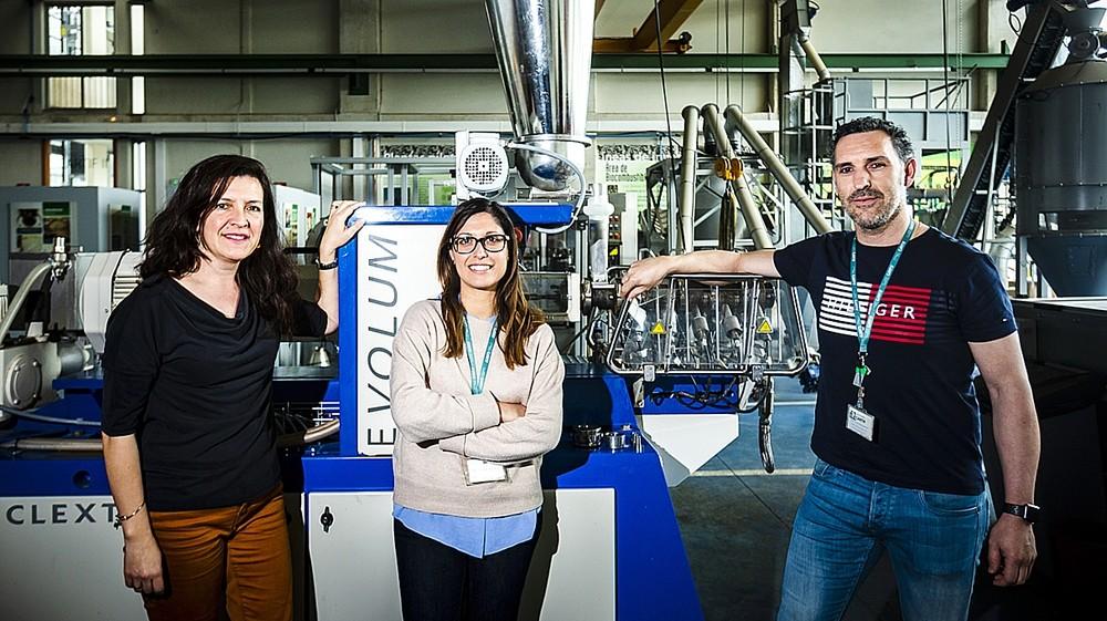 Los tres investigadores responsables del proyecto: Belén Blanco (i), Laura Fernández (c) y Pedro Acebes.